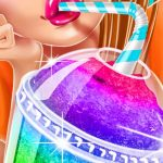 Ice Slushy Maker Rainbow Desserts