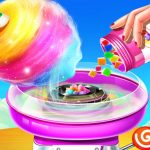 Sweet Cotton Candy Shop: Candy Cooking Maker Game